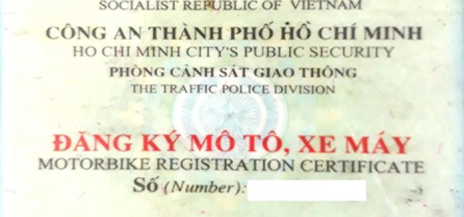 Thủ tục đăng ký sang tên xe máy