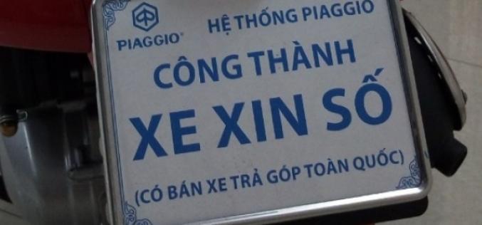 Xe gắn biển xe xin số có được phép lưu thông trên đường?