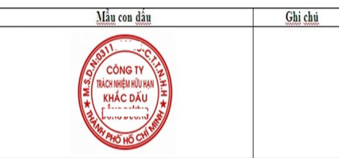 Thủ tục thông báo sử dụng con dấu Doanh nghiệp